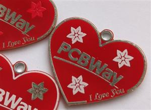 PCB badge or keychain for PCBWay v2