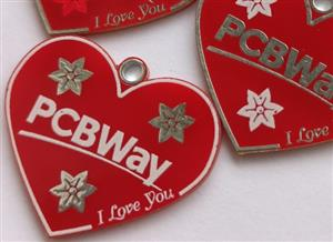 PCB badge or keychain for PCBWay v3