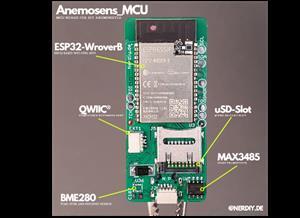 "Anemosens_MCU - MCU PCB for my 3D printed anemometer ""Anemosens"""