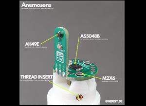 "Anemosens_Sensor_PCB - Sensor PCB for my 3D printed anemometer ""Anemosens"""