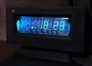 VFD clock with air quality monitoring